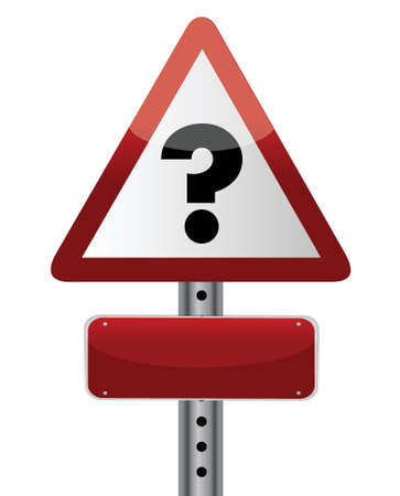 Question Sign illustration design over a white background