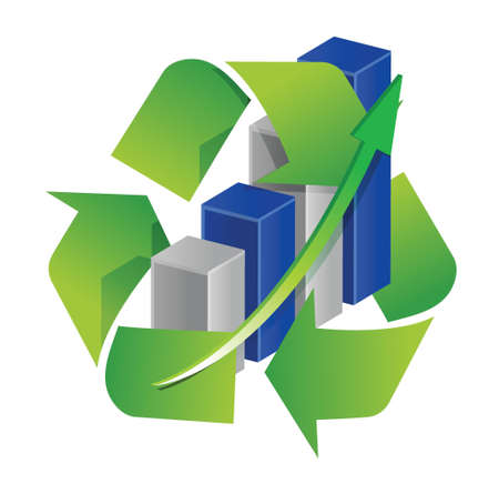 Recycle graph sign illustration design over a white background