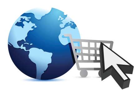 E-shopping - Concept illustration design over white