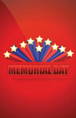 USA Memorial day sign illustration design graphic background Stock Vector - 17539616