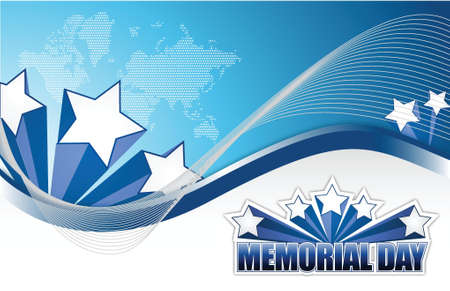 USA Memorial day sign illustration design graphic background Vector