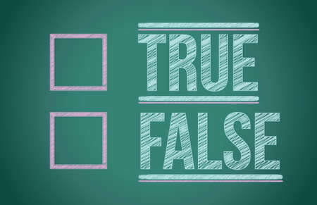 true or false with checkboxes illustration design over white Stock Vector - 17539461