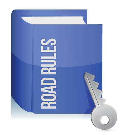road ring: Road rules register with car keys illustration design Illustration