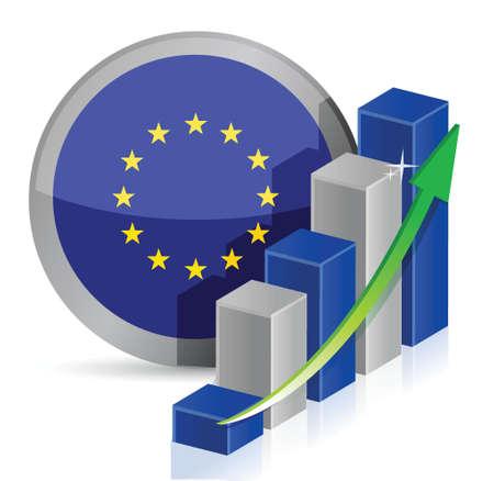 european flag Business illustration design over a white background Ilustração
