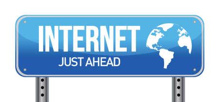 Sign Internet illustration design over a white background Stock Vector - 17539436
