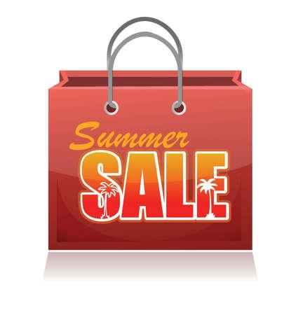 Shopping bag. Summer sale. Illustration design over white Stock Vector - 17539438