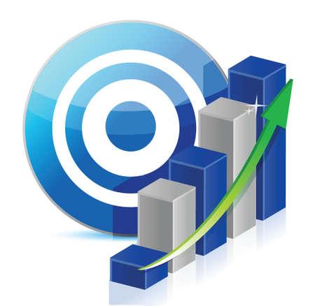 target Business illustration design over a white background Stock Vector - 17539604