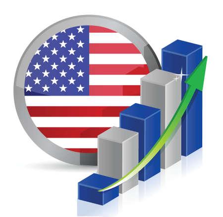 US Business illustration design over a white background