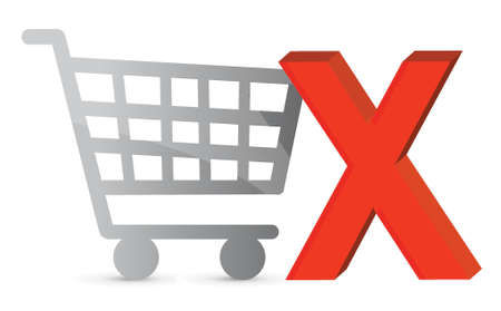 product cart: Shopping cart with a green check mark. Illustration design