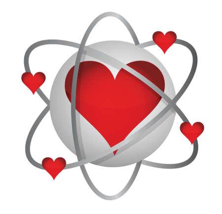 atomic love concept illustration design over a white background Stock Vector - 17540280