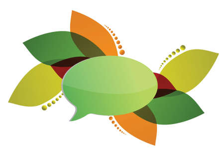 abstract composition with speech bubble illustration design Stock Vector - 17539975