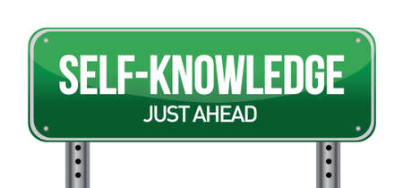 Self-Knowledge Road Sign illustration design over a white background Ilustração