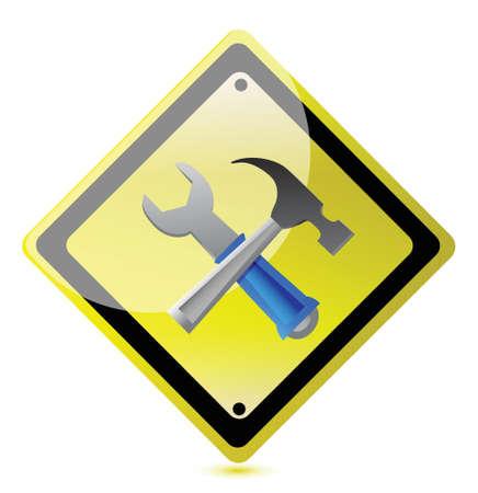 metalwork: support sign illustration design over a white background Illustration
