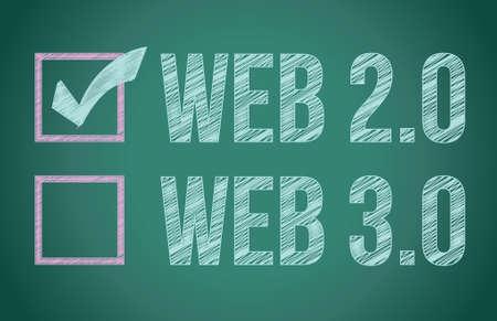 web selection on a blackboard illustration design graphic Stock Vector - 17539976