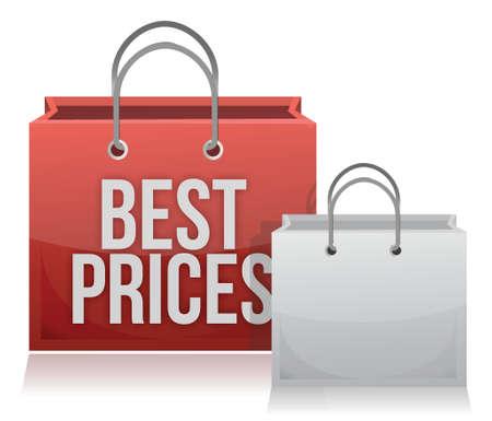 Best price shopping bag illustration design over white
