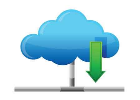 Cloud download icon illustration design over a white background Vector