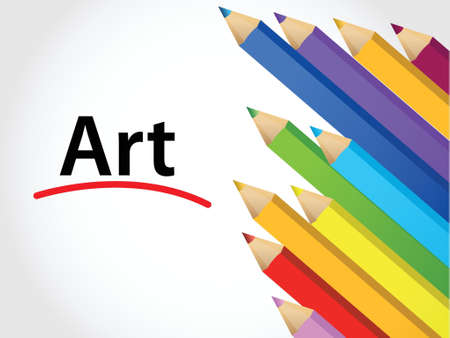 art Multicolored pencils illustration design over a white background Stock Vector - 17568878
