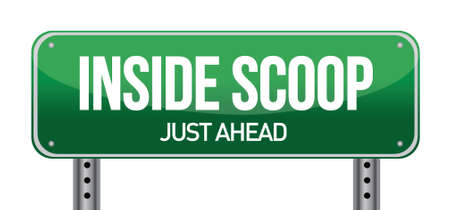Inside Scoop Green Road Sign illustration design over white Stock Vector - 17568855