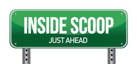 revelation: Inside Scoop Green Road Sign illustration design over white Illustration