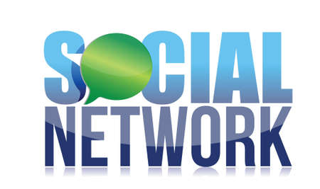 Template of the sign  social network illustration design over white Stock Vector - 17568859