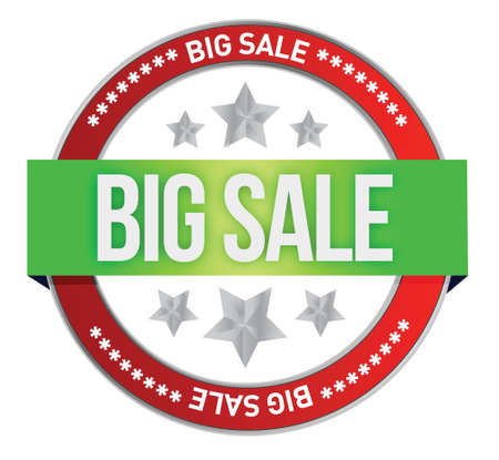big sale sell online at web shop illustration design over white Stock Vector - 17594659