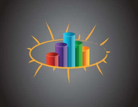 businesslike: Negocio gr�fico en un dise�o ilustraci�n pizarra