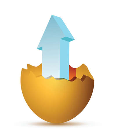 overt: pointer egg arrow illustration design overt a white background