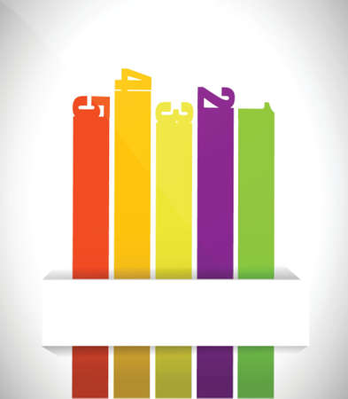 classement: Style papier �tiquettes graphique design illustration sur un fond blanc Illustration