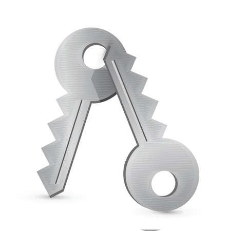 keys illustration design over a white background Stock Vector - 17594381