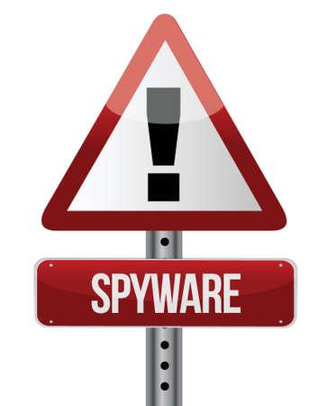 spyware: 'Spyware' sign dise�o ilustraci�n sobre un fondo blanco Vectores