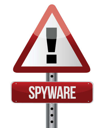 spyware: spyware sign illustration design over a white background