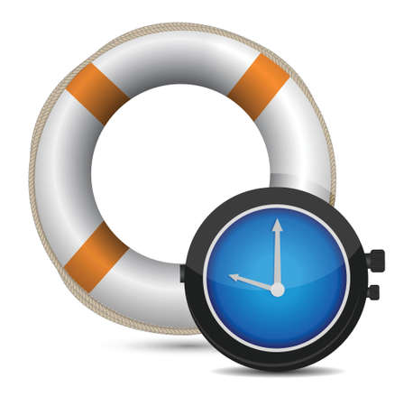 time over: Rescue Time illustration design over a white background
