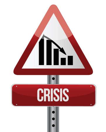 decline: Downward trend concept crisis illustration design over a white background