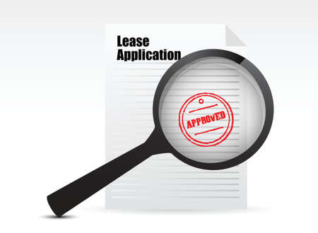 renter: Lease Applications sign illustration design over white
