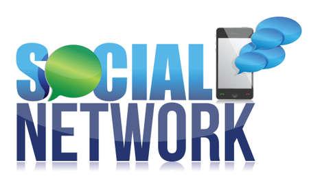 Social network concept illustration design over a white background Stock Vector - 17662695