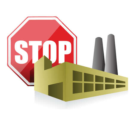 Stoppen Sie Verschmutzung Umwelt-Konzept, Illustration, Design über einem weißen Hintergrund Standard-Bild - 17662705
