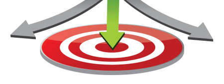Attain the target illustration design over a white background