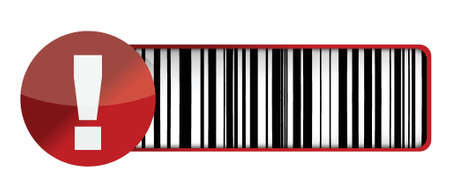 warning barcode UPC illustration design over a white background Vector