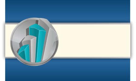 business graphs background, blue colors illustration graphic design Ilustração