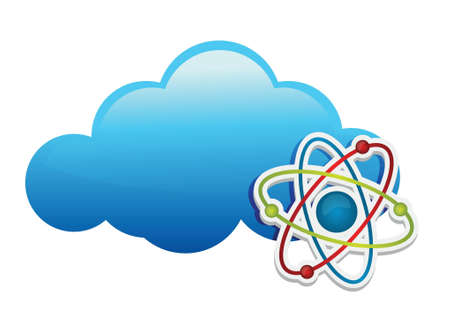 thinking about chemistry cloud illustration design over white Stock Vector - 17695217