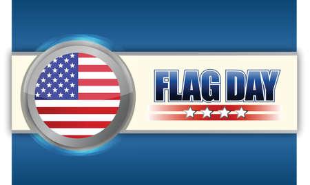 flag day sign illustration design over a blue background Stock Vector - 17695390