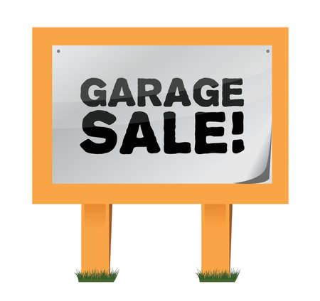 garage verkoop teken illustratie ontwerp op een witte achtergrond