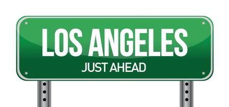 Road sign Los Angeles illustration design over a white background Vector