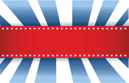 American Flag Design, red white and blue background Ilustrace