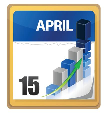 Tax returns day marked on a calendar illustration design Stock Vector - 17727194