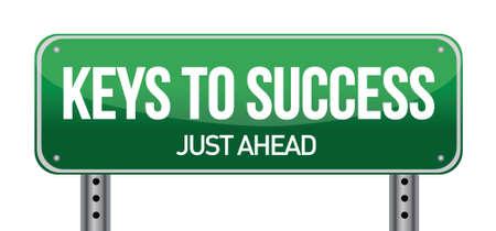 Keys to success illustration design over a white background Ilustração