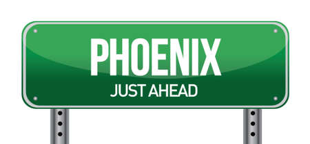 Phoenix Road Sign illustration design over a white background Stock Vector - 17727183