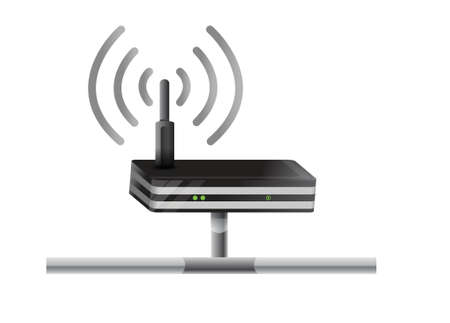 access point: Wireless Router network illustration design over a white background
