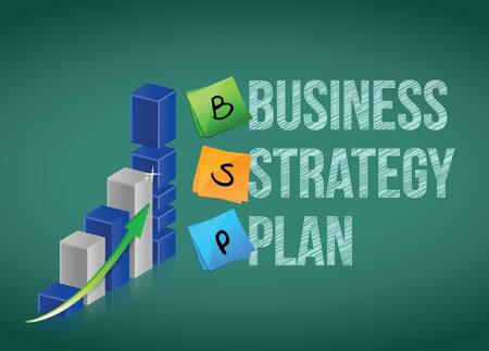 Business strategy plan, illustration design over white Stock Vector - 17823543