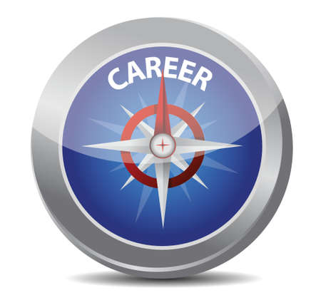 career the way indicated by compass illustration design over white Stock Vector - 17823432